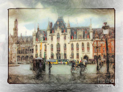 Painting - Bruges, Belgium by Chris Armytage
