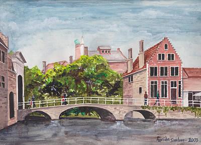 Bruges Bridge Original by Farida Greenfield