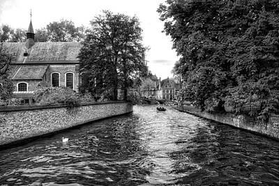 Photograph - Bruges Bw2 by Ingrid Dendievel