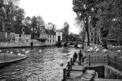 Photograph - Bruges Bw3 by Ingrid Dendievel