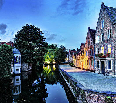 Photograph - Bruges Canal At Dusk by Weston Westmoreland
