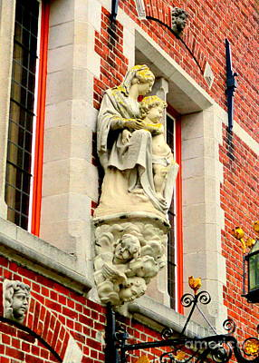 Photograph - Bruges Detail 1 by Randall Weidner
