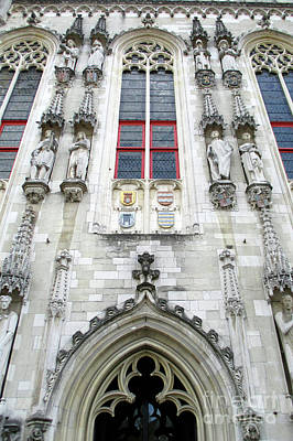 Photograph - Bruges Detail 29 by Randall Weidner