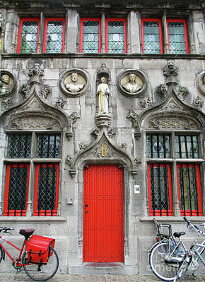 Photograph - Bruges Door 6 by Randall Weidner