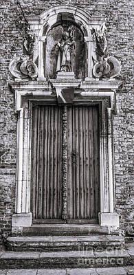 Photograph - Bruges Door by Lexa Harpell