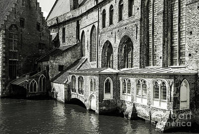 Photograph - Bruges Medieval Architecture by Lexa Harpell