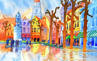 Townscapes Painting - Bruges No. 1 by Virgil Carter