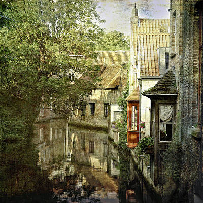 Belguim Wall Art - Photograph - Bruges Reflections by Janet Meehan
