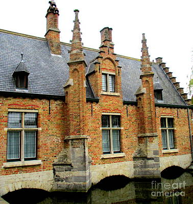 Photograph - Bruges Sashuis 6 by Randall Weidner