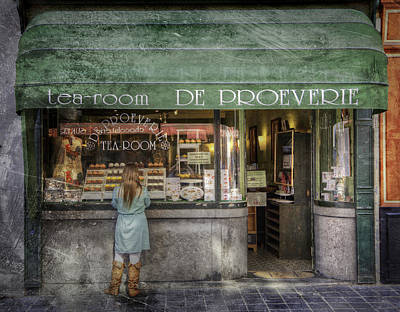 Belguim Wall Art - Photograph - Bruges Tearooms by Janet Meehan