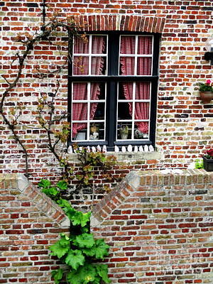 Photograph - Bruges Window 1 by Randall Weidner