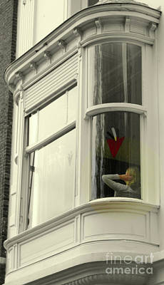Photograph - Bruges Window 10 by Randall Weidner