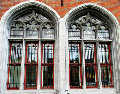Photograph - Bruges Window 18 by Randall Weidner