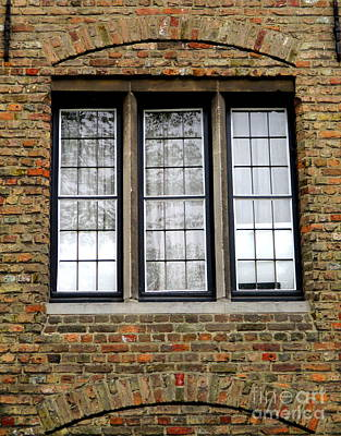 Photograph - Bruges Window 3 by Randall Weidner