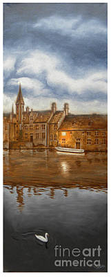 Bruges With Swan Original by Stephan Swolfs