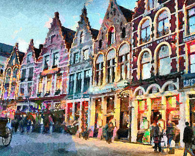 Belgium Digital Art - Brugge by Anthony Caruso