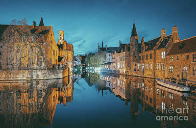 Photograph - Brugge City Lights by JR Photography