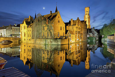 Photograph - Brugge Twilight by JR Photography