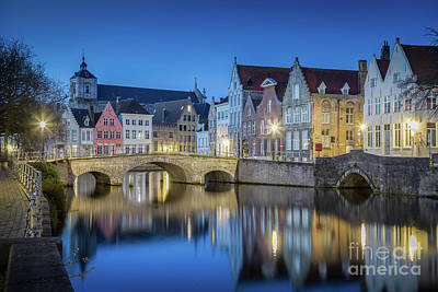Photograph - Brugge Twilight View by JR Photography