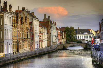 Photograph - Brugges At Sunset by Juli Scalzi