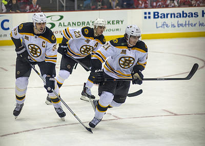 Bruins Photograph - Bruins Trio by Jason Stockwell