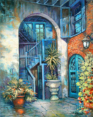 New Orleans Oil Painting - Brulatour Courtyard by Dianne Parks