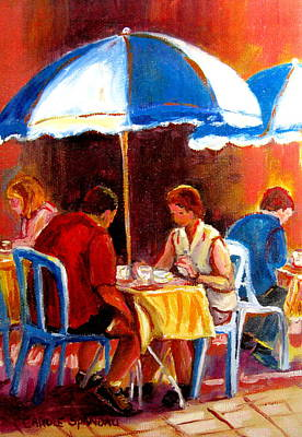 Montreal Winter Scenes Painting - Brunch At The Ritz by Carole Spandau