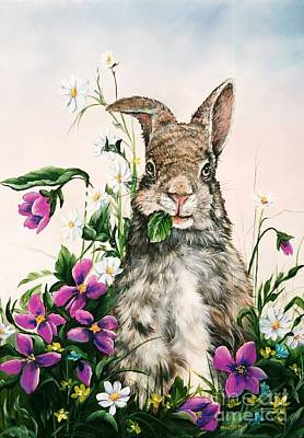 Brunch Painting - Brunch Bunny by Jeannie Harrison