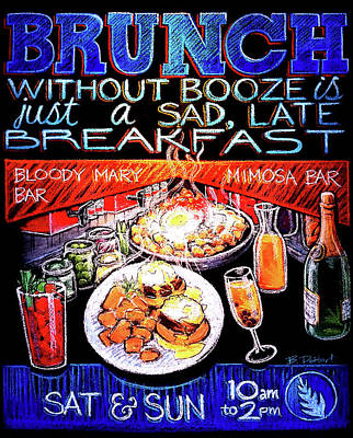 Bloody Mary Painting - Brunch Without Booze by Benjamin DeHart