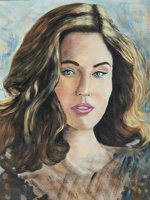 Linda King Painting - Brunette Date by Linda King