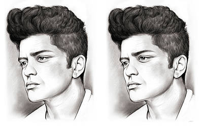 Mars Drawing - Bruno Double by Greg Joens