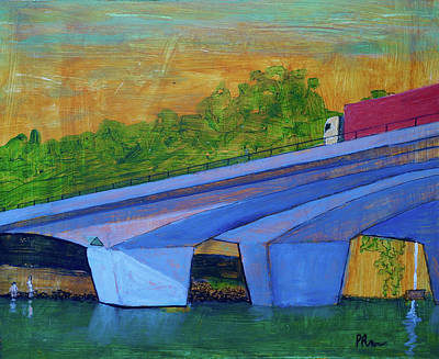Art Print featuring the painting Brunswick River Bridge by Paul McKey