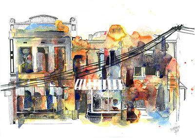 Painting - Brunswick Street Melbourne by Julia Zoellner