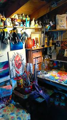 Painting - Brush Cans by Les Leffingwell