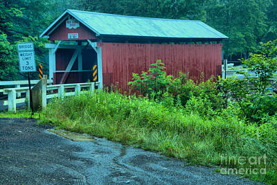 Photograph - Brush Creek Packsaddle Covered Bridge by Adam Jewell