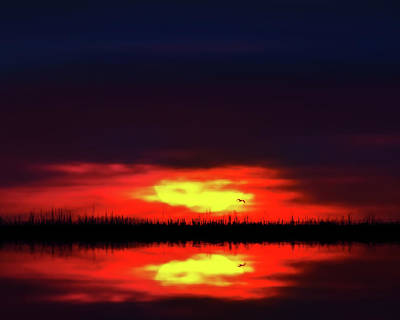 Photograph - Brush Fire Sunset by Mark Andrew Thomas