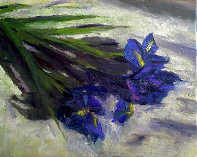 Painting - Brush Flowers #1 by Brian Kardell