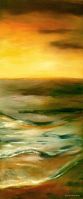 Painting - Brushed 4 - Vertical Sunset by Gina De Gorna
