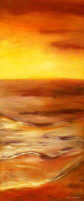 Painting - Brushed 5 - Vertical Sunset by Gina De Gorna