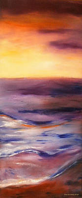 Painting - Brushed 6 - Vertical Sunset by Gina De Gorna
