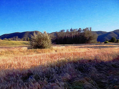 Sly Digital Art - Brushed California Countryside by Glenn McCarthy Art and Photography