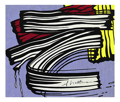 Photograph - Signed - Brushstroke -1965 by Doc Braham - In Tribute to Roy Lichtenstein