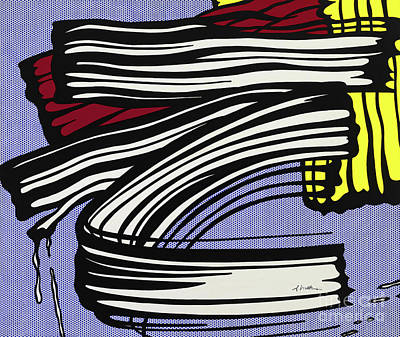 Photograph - Brushstroke by Doc Braham - In Tribute to Roy Lichtenstein