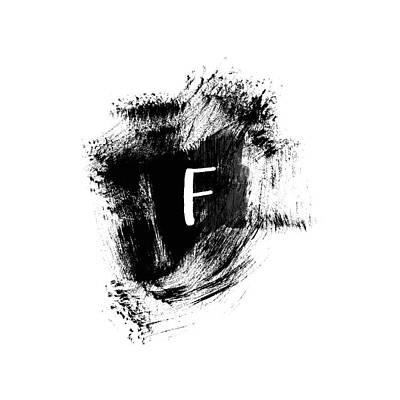 Painting - Brushstroke F -monogram Art By Linda Woods by Linda Woods