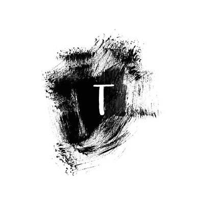 Painting - Brushstroke T -monogram Art By Linda Woods by Linda Woods