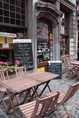 European Cafe Photograph - Brussels - Restaurant Chez Patrick by Carol Groenen