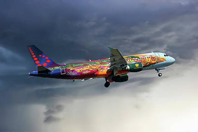 Brussels Airlines Airbus A320-214 Art Print