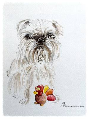 Griffon Mixed Media - Brussels Griffon by Barbara Chase