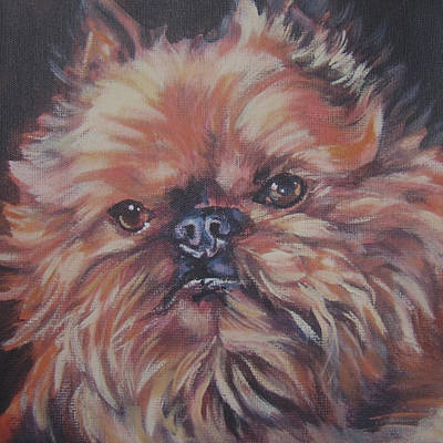 Griffon Wall Art - Painting - Brussels Griffon by Lee Ann Shepard