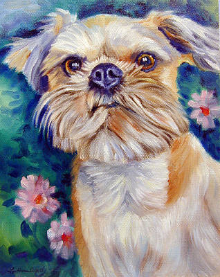Griffon Wall Art - Painting - Brussels Griffon by Lyn Cook
